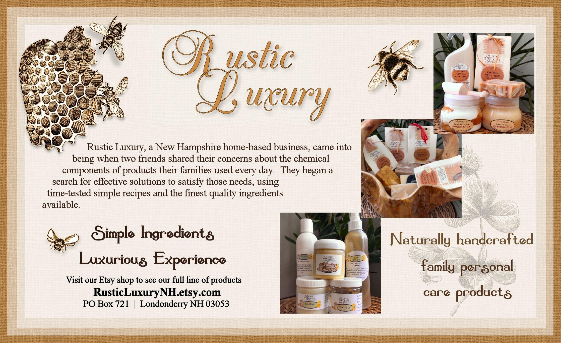 Rustic Luxury NH Etsy Shop